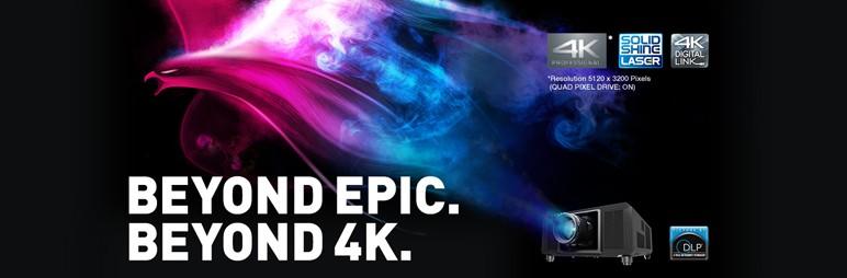 Откройте для себя новые возможности в работе с самым компактным и легким 4K+-проектором*1 с яркостью 20 000 лм