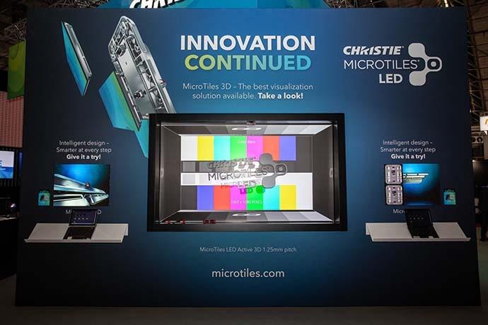 ISE 2020: новые возможности Christie MicroTiles LED - активный 3D